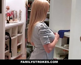 Familystrokes - milf hardcore drilled by stepson