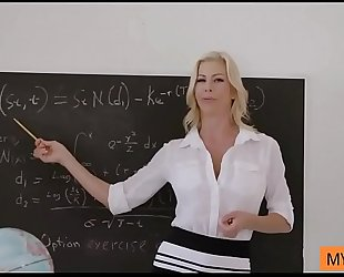 Horny teacher is paid in dark currency for her sex lessons - hd1