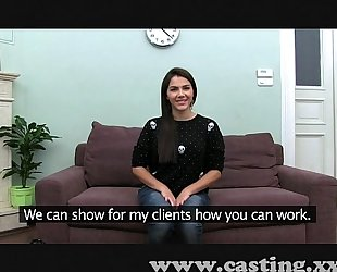 Casting sexy italian hottie in interview