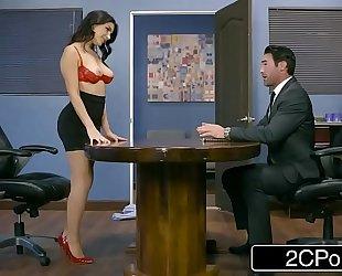 Italian business woman valentina nappi receives a hardcore office fucking