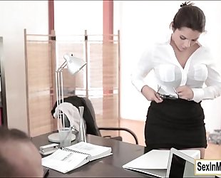 Wet and wild sex with secretary valentina nappi and her boss