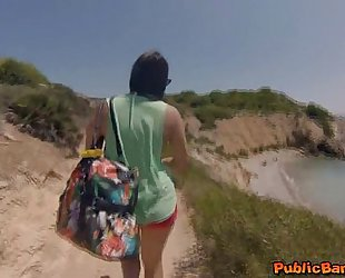 Hot honey valentina nappi screwed on beach in public!