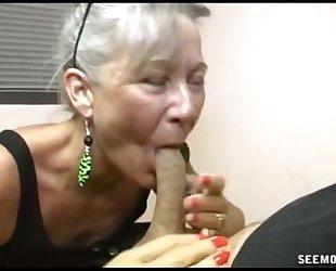 Slutty granny irrumation
