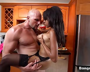 Britney white drilled on kitchen