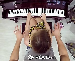 Povd blond bailey brooke copulates piano lesson instructor
