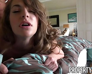 Propertysex - sexy real estate agent flirts with client and copulates his large wang