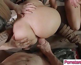 (jasmine jae & monique alexander & stella cox) superb pornstar show how to gangbang a hard mamba