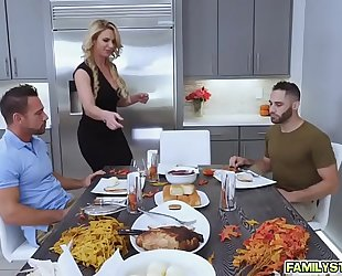 Army guy meets breasty stepmom for thanksgiving three
