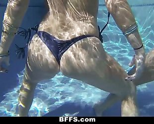 Bffs - lesbo sex pool party!
