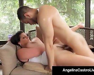 Cubas porn queen angelina castro receives a large dark dong & cum