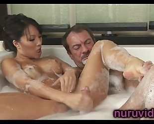 Asa akira sexy cook jerking in the bathtub