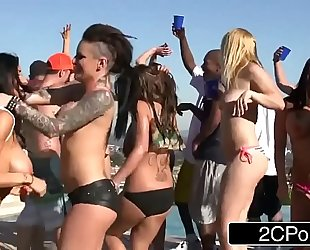 Spring break fuckfest party - christy mack, raven bay, rikki sixx, romi rain