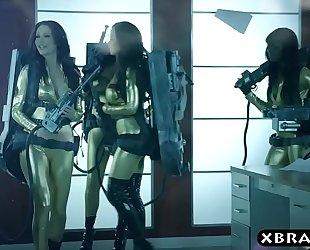 Ghostbuster parody where hawt pornstars fuck in an fuckfest