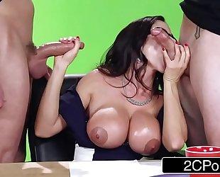 Big news on the boob tube - sexy milf ariella ferrera copulates on camera