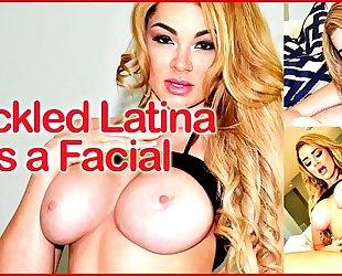 Freckled lalin girl receives a facial - (skyla novea)
