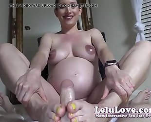 Lelu love-pov preggy footjob jizz flow on feet