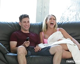 Horny stepmom kagney linn karter copulates his stepson during the time that daddy is sleeping