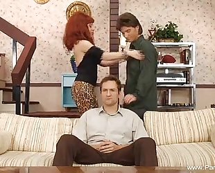 Parody golden-haired masturbation with toy