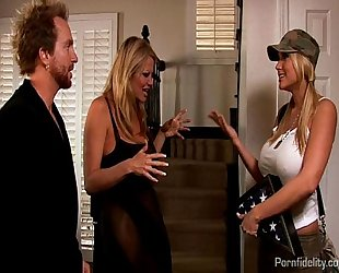 Army slutty wife alanah rae acquires a farwell fuck from kelly madison