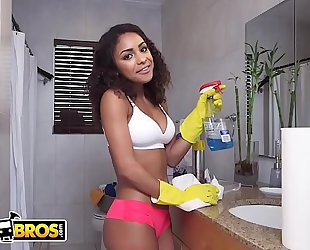 Bangbros - youthful legal age teenager latin chick maid nicole bexley receives down and immodest