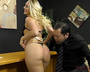 Loan officer makes him take up with the tongue a-hole to acquire a loan - aj applegate