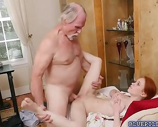 Redhead dolly little got drilled by an old dude