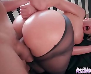 (brooklyn chase) soaked large butt oiled slutty wife love anal hardcore sex clip-12