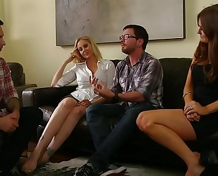 Rough foursome with lustful cougars