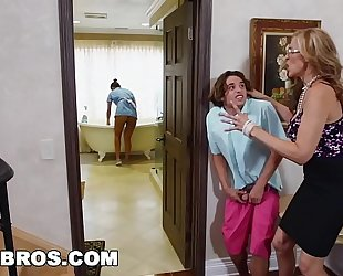 Bangbros - stepmom trio with the latin chick maid abby lee brazil
