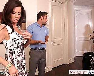 Brunettes india summer and veronica avluv share a large rod