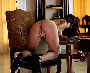 Aidra fox bonks her slit with a marital-device - eroticvideoshd.com