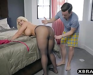 Bbw stepmom is lascivious and wishes a juvenile schlong in her large wazoo