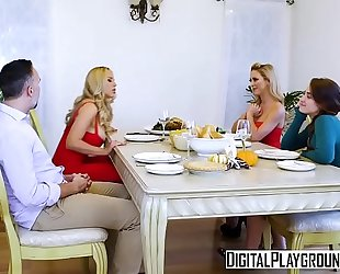 Digitalplayground - thanks giving turkey toss with (cherie deville, keiran lee, olivia austin)