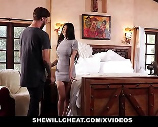 Shewillcheat - unhappy housewife copulates her boytoy in front of spouse