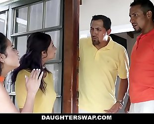 Daughterswap - creepy dads film daughters porn try-out