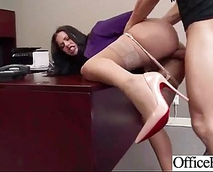 Office breasty white bitch (diamond kitty) receive hard style group-fucked clip-12