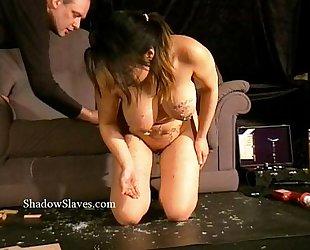 Asian s&m gameshow of breasty slavegirl tigerr juggs drawing hawt wax and thrashing