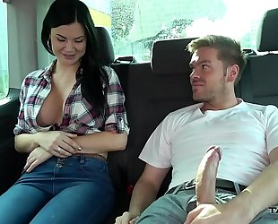 Ryan ryder convince juvenile innocet pleasing jasmine jae to fuck in driving van