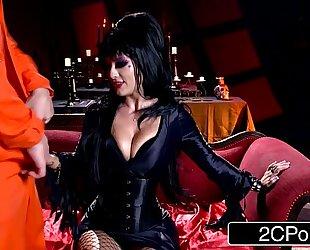 Elvira the female-dominant - midnight madness w/ beautiful horror hostess katrina jade