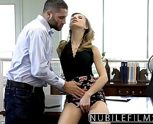 Nubilefilms - office floozy drilled untill this babe squirts