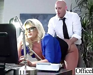 Sex in office with sexually excited floozy worker Married slut mov-13