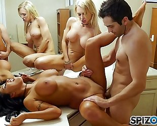 Spizoo - watch alix, augus and donnie receive down and fuck every others