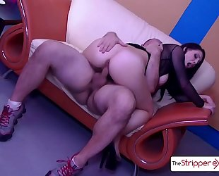 The stripper experience - noelle easton flawless a-hole screwed by a massive cock