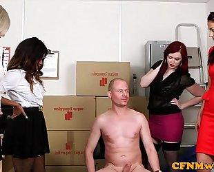 Mean femdom group joy with kiki minaj