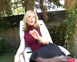 Hot milf nina hartley engulfing cock and fucking - pov-porn.net