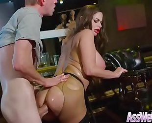 (cathy heaven) lustful Married slut with large oiled gazoo receive it hard in her behind clip-14