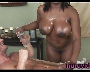 Busty ebon jada fire gives fantastic weenie massage