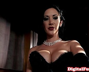 Titfucked nice-looking sweetheart acquires doggystyled