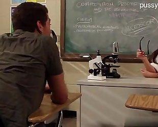 Hot teacher copulates student