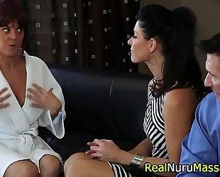 Fetish masseuse blow pecker